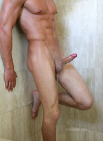 Gavin touch his awesome body in a shower